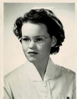 Mom's Nurse Photo B&W scanned as color